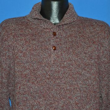 80s Pendleton Western Rag Elbow Patch Pullover Sweater Large