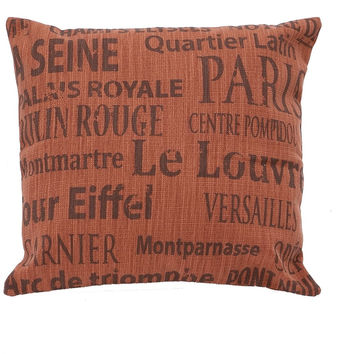 0-001509>Red French Decorative Fabric Pillow