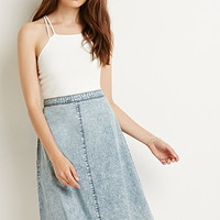 Mineral Wash A-Line Skirt