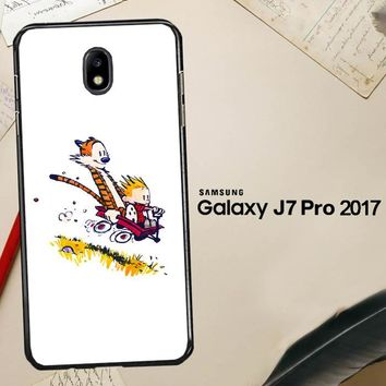 Calvin And Hobbes X4727 Samsung Galaxy J7 Pro SM J730 Case