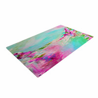 "Ebi Emporium ""Something About the Sea 2"" Teal Pink Woven Area Rug"