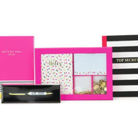 Girlboss Stationery Gift Set in Hot Pink and Black