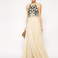 ASOS Embellished Crop Top Maxi WIth Embellishment