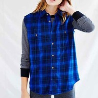 Urban Renewal Overdyed Sleeveless Flannel Shirt-