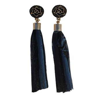 Luxe Tassel Earrings - Black