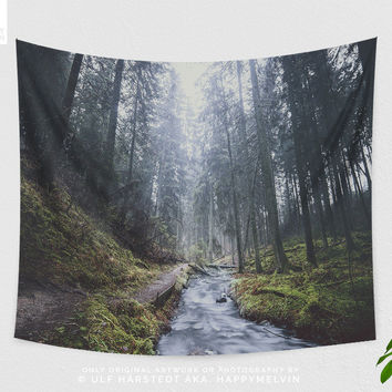 Wanderlust Forest Wall Tapestry | Nature Tapestries | Forest Tapestry | Wanderlust Wall Hangings | Photography | Boho Wall Decor | 3 Sizes