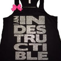 I am Indestructible - Glitter -   Indestructible Me - Be Indestructible - by Ruffles with Love