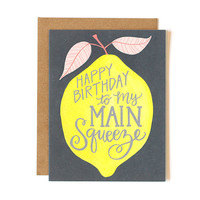 ONE CANOE TWO LEMON BIRTHDAY CARD
