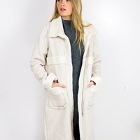 Firey Nights Long Shearling Coat