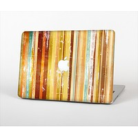 """The Smudged Yellow Painted Stripes Pattern Skin Set for the Apple MacBook Air 13"""""""