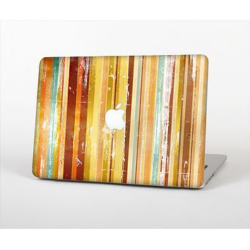 The Smudged Yellow Painted Stripes Pattern Skin Set for the Apple MacBook Air 13""
