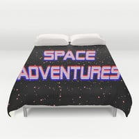 Space Adventures Arcade banner Duvet Cover by StevenARTify | Society6
