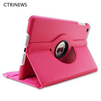 CTRINEWS Smart Flip Case For iPad Air 2 360 Degree Rotating Stand PU Leather Case For iPad Air 2 Tablet Full Protective Cover