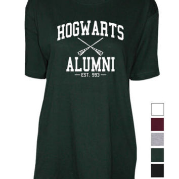 Hogwarts Alumni harry potter house unisex womens mens ladies print Tshirt | eBay
