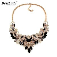 Best lady Spring Colorful Crystal Women Brand Maxi Statement Necklaces & Pendants Vintage Turkish Jewelry Necklace 2605