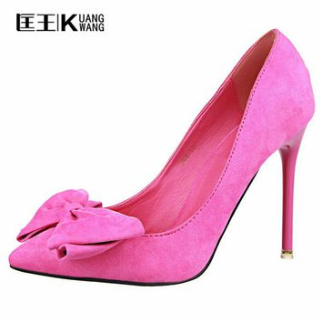 Shoes Women Pumps High Heels Pointed Toe Pumps Vrouwen Thin High Heels Bow Ladies Shoes with Heels Black Pumps Women Shoes