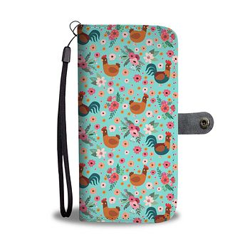Chicken Flower Wallet Phone Case-Clearance