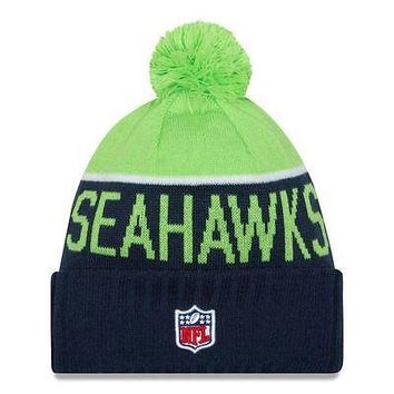 Seattle Seahawks Beanie Knit Sport New Era NFL Hat