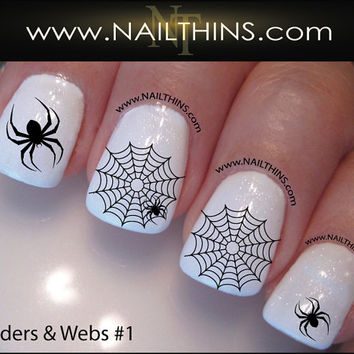 Spider Web Nail Decal Spider Set No 1 Halloween Nail Art Web Nail Designs NAILTHINS