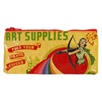 """Blue Q Pencil Cases Art Supplies 4 1/4"""" x 8 5/8"""" 95% Post Consumer Recycled Material"""