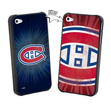 NHL Montreal Canadiens iPhone 44S Broken Glass Lenticular Case