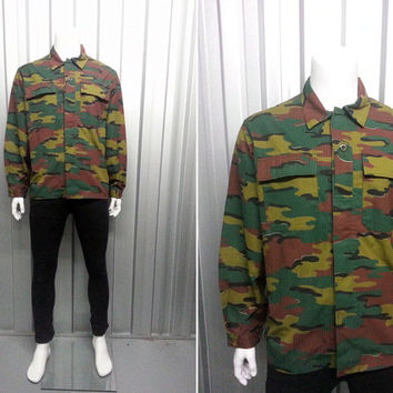 90s Camo Jacket Military Camouflage Hipster Clothing Army Coat Punk Rock Indie Jacket Nu Goth Military Surplus Oversized Jacket Utility
