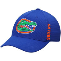 NCAA Florida Gators Men's Top of the World Royal Booster Plus Memory 1Fit Logo Flex Hat