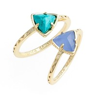Kendra Scott 'Anna' Triangle Rings (Set of 2) | Nordstrom
