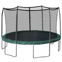 Skywalker 15-Feet Round Trampoline and Enclosure Combo with Spring Pad, Green