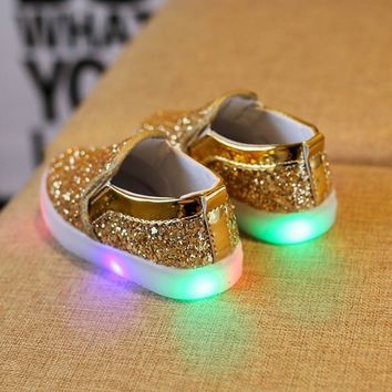 Kids Sneakers Children casual shoes boys girls LED Luminous Child Toddler Casual Color