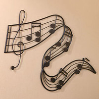Musical Notes Hanging Wall Art Music Room Band Musician Home Decor New