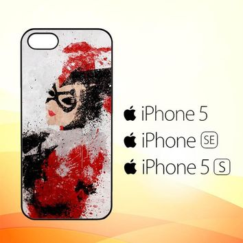 harley quinn painting Z1686  iPhone 5|5S|SE Case