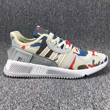 Adidas EQT Cushion Fashion Man Running Sport Casual Shoes Sneakers Beige Camouflage G-CSXY