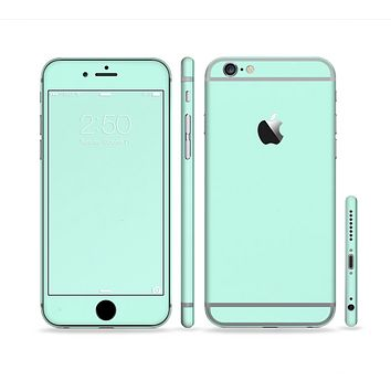The Subtle Solid Green Sectioned Skin Series for the Apple iPhone 6 Plus