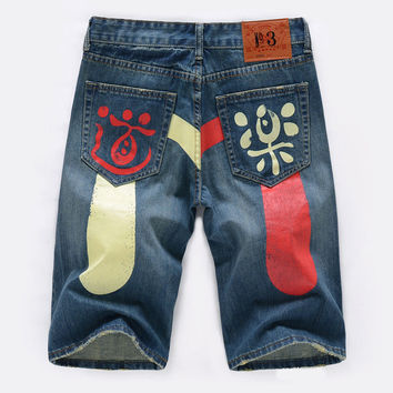 Summer Denim Pants Print Jeans [10366808003]