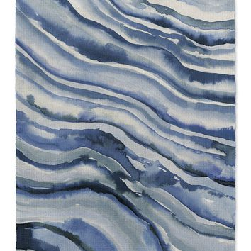 WATERCOLOR WAVES  Area Rug By Becky Bailey