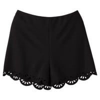 Xhilaration® Juniors Laser Cut Shorts - Black