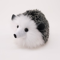 Black and Grey Hedgehog Stuffed Plush Toy