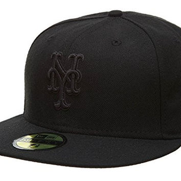 New Era New York Mets Fitted Hat Mens Style: HAT522-BLACK Size: 7 1/8