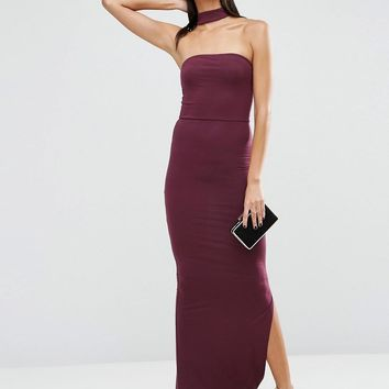ASOS | ASOS Choker Bandeau Maxi Dress at ASOS