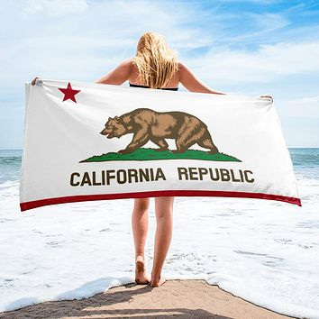 California State Flag Beach Towel