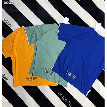 NIKE 2018 summer new men and women couple models tide brand fashion short sleeve F-AG-CLWM
