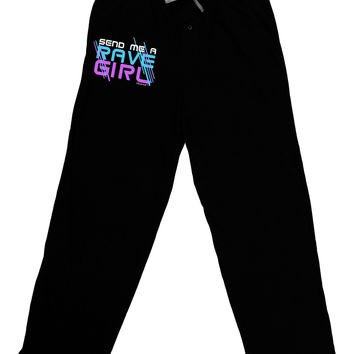 Send Me A Rave Girl Relaxed Adult Lounge Pants