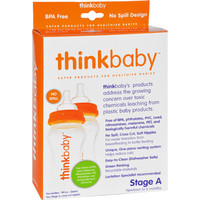 Thinkbaby Baby Bottle with Stage A Nipple (0-6 Months) - Twin Pack - 9oz