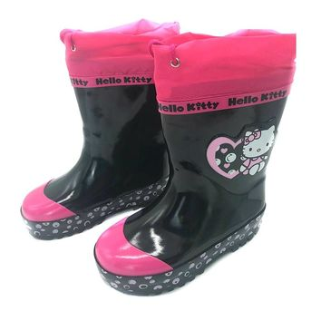 Baby Girls Shoes Hello Kitty Boots PU Leather Waterproof Martin Boots Hello Kitty Shoes Girls Rubber Rain Boots Fashion Sneakers