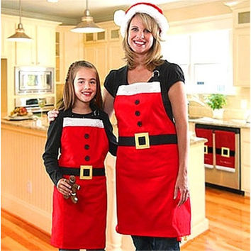 Christmas Kitchen Bar Home Adult Red Cooking Party Aprons Funny [8833405516]