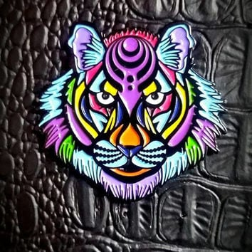 Bass Tiger Black (Bassnectar Inspired Hat Pin)