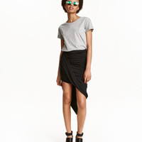 Draped Jersey Skirt - from H&M
