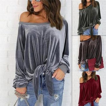 Butterfly Long Sleeve Batwing Sleeve Tops T-shirts [256914161690]