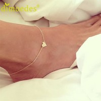 Ankle Jewelry for Women Deal Sweet Simple Heart Shape Bracelet Lady Gift 1PC For Ankle